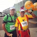 My first, his 50th marathon!